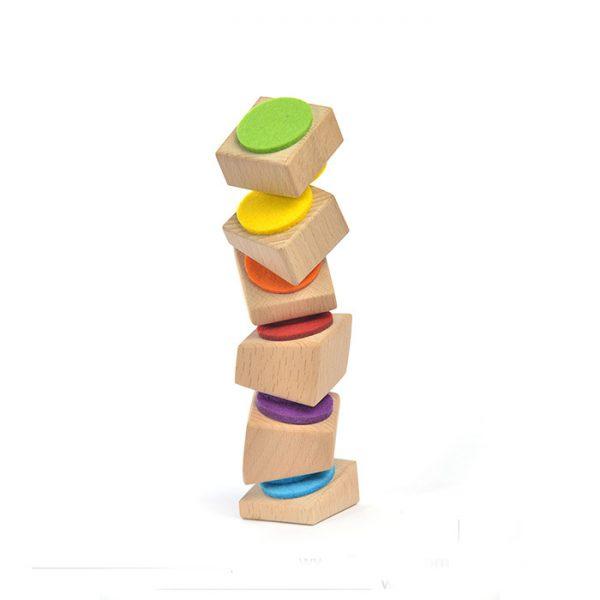 اسباب بازی چوبی برج نمدی