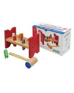اسباب بازی میزک میخ و چکش چوبی