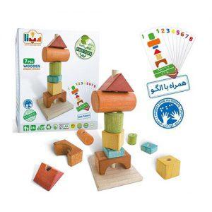 اسباب بازی اشکال چوبی