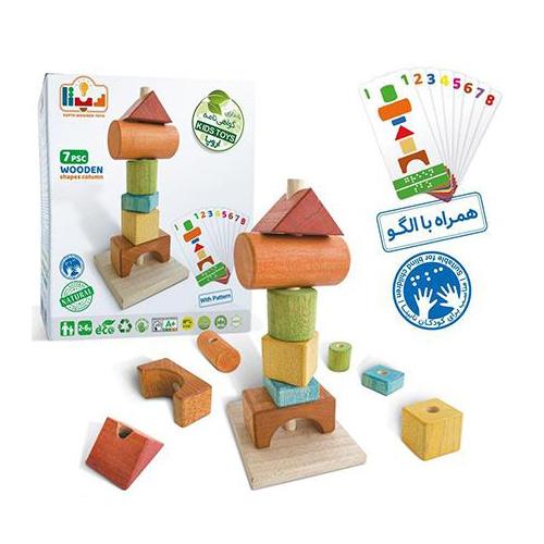 اسباب بازی ستون اشکال چوبی