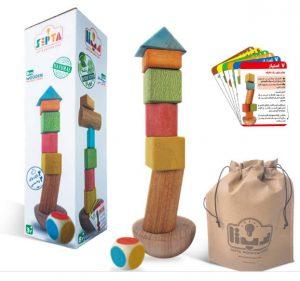 اسباب بازی چوبی برج تعادل چوبی