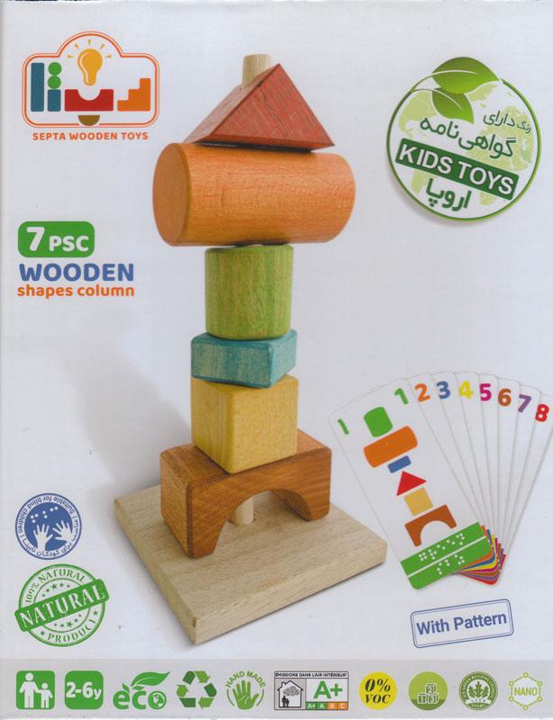 ستون اشکال چوبی
