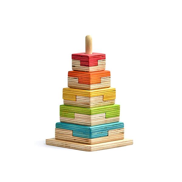 اسباب بازی چوبی برج هوش