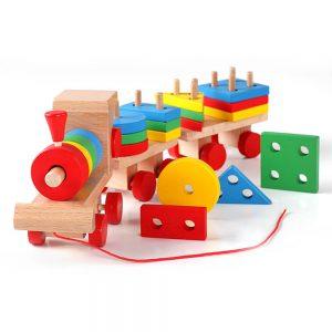 اسباب بازی قطار چوبی اشکال