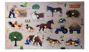 پازل چوبی مزرعه و حیوانات